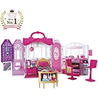 Barbie- Glam Casa de Vacaciones portátil, Multicolor, Miscelanea (CHF54)