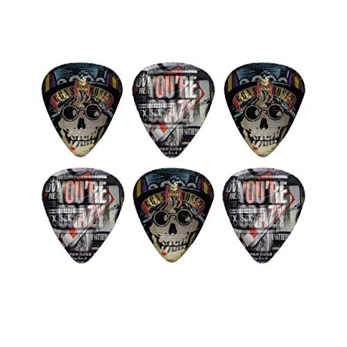 Perri's Leathers Ltd. - Motion Guitar Picks - Guns N' Roses - Appetite for Destruction - Official Licensed Product - 6 Pack - MADE in CANADA.
