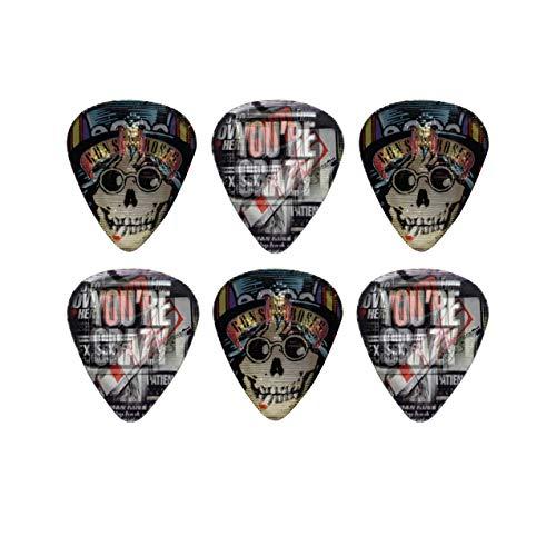 Perri's Leathers Ltd. - Púas de guitarra Motion - Guns N' Roses - Appetite for Destruction - Producto oficial - Paquete de 6 - Hecho en Canadá