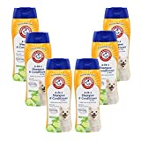 Arm & Hammer for Pets Super Deodorizing Shampoo for Dogs | Odor Eliminating Shampoo for Smelly Dogs & Puppies, White, 20 Ounce - 6 Pack (FF10477PCS6)