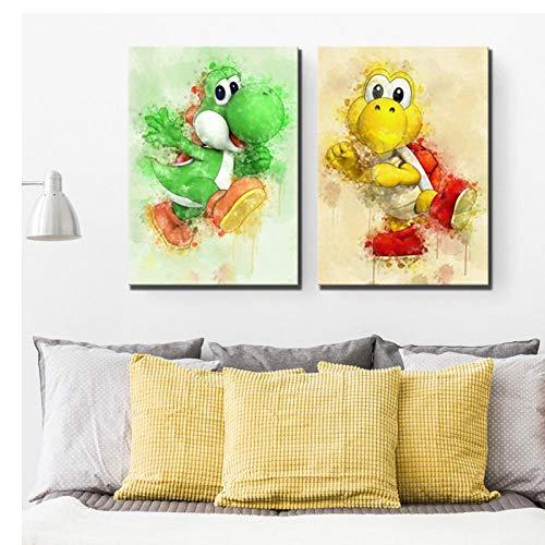 Terilizi Hd Print canvas poster wooncultuur bros spel schilderij kunst modulaire fotolijst voor kinderkamer 50 x 70 cm x 2 geen lijst