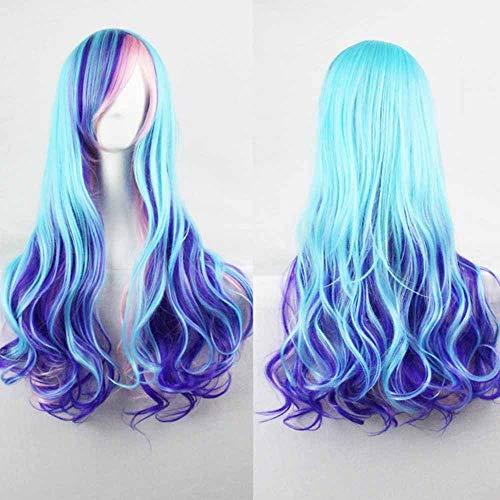 WANGZ 28 Pouces / 70cm Long Wave Curly Lolita Style Colsplay Perruques for Fashion Daily et Halloween Chaleur synthétique résistant Perruque