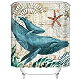 180 x 200 cm tejido textil de alta calidad WENKO 20961100 Cortina de ducha Meditation Poli/éster lavable Multicolor