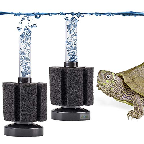 JOR 6-Layer Turtle Sponge Filter, Underwater Corner Aquarium Filter, Ideal Current for Turtles, Easy to Maintain for Pennies Compared to Costly Canister Filters, Must-Have for Happy Turtles, 2 Pcs