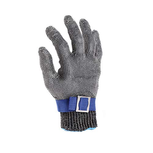 Cut Resistant Gloves-Stainless Steel Wire Metal Mesh Butcher Safety Work Gloves for Meat Cutting, fishing (Extra Large)