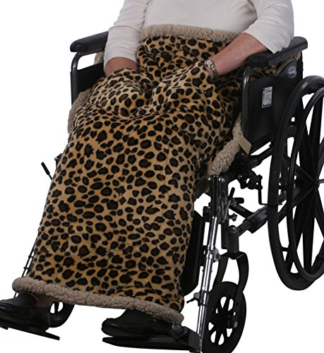 Granny Jo Products Heavyweight Wheelchair Blanket, Animal Print