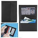 Travelon Wallet Genuine Leather RFID Blocking Credit Card Case Billfod ID Black