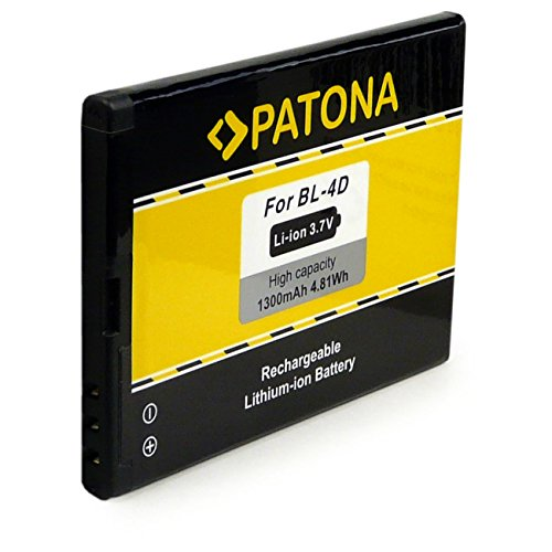 PATONA Batteria BL-4D 1300mAh Compatibile con Nokia E5 E7 N8 N97 Mini 808 Pure View