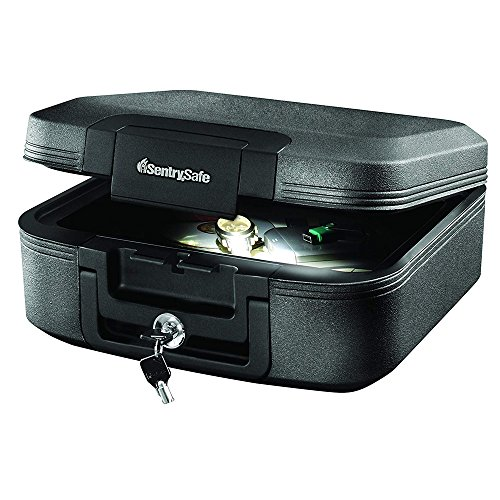 SentrySafe CHW20205 Fireproof Waterproof Box with Key Lock and Interior Light, 0.28 Cubic Feet