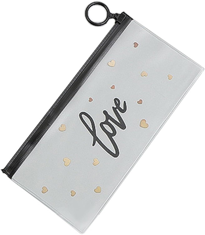 Transparente Farbe der Premium-Qualitäts-Liebes-Muster, die Versorgungs-Stift-Tasche Versorgungs-Stift-Tasche Versorgungs-Stift-Tasche lernt Ogquaton B07NVDD9W6 |  Neuer Markt  626e68