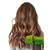 iColor Hair Dye Shampoo Triple Color Changer 25ml (0.85 Oz) x 10 sachets in a box, Permanent hair color, dye, Brown Black, Caramel,Blond