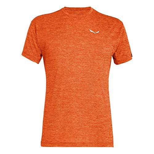 Salewa Herren PUEZ Dry M S/S Tee Blusen & T-Shirts, red orange Melange, 50/L