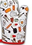 xiahe guantes de horno de algodón 1 par de guantes de horno fríos resistentes al calor guantes de cocina para hornear regalos