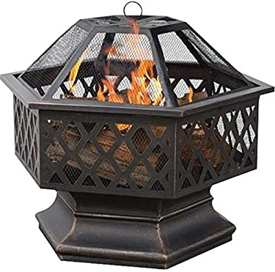 "Amazon.com : ZENY 24"" Fire Pit Hex Shaped Home Garden ... on Zeny 24 Inch Outdoor Hex Shaped Patio Fire Pit Home Garden Backyard Firepit Bowl Fireplace id=74659"