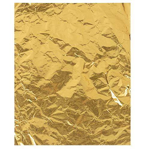 Snoepfolieverpakkingen - 100 stuks metallic gekleurd aluminiumfolieverpakkingspapier, voor chocoladereep, lolly's, snoepjes, doe-het-zelfverpakking, feestbenodigdheden, gunsten, geschenkset, 6 x 7,5 inch
