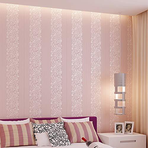 Hualq 3D-Wandbild, vertikale Blume, selbstklebend, Vliesstoff, dicker Schaumstoff, geeignet für Wohnzimmerdekoration, 0,53 x 10 m (2 Farben optional)