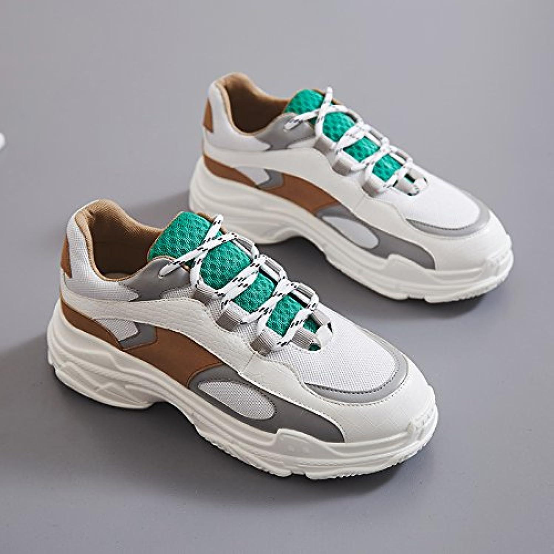 NGRDX&G Thick-Soled Sportschuhe Frauen Casual Farbabstimmung Schuhe