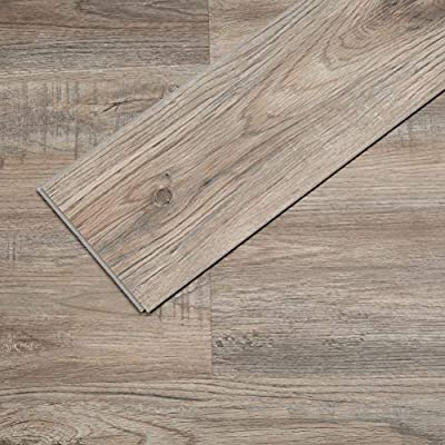Soulscrafts Luxury Vinyl Plank Flooring Lvt Flooring Tile Click Floating Floor Waterproof Foam Back Rigid Core Wood Grain Finish Provo Oak 48 x 7 Inch, 23.6 sq.ft (10-Pack)