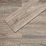 Soulscrafts Luxury Vinyl Plank Flooring Lvt Flooring Tile Click Floating Floor Waterproof Foam Back Rigid Core Wood Grain Finish Provo Oak 48 x 7 Inch, 23.6 sq.ft (10-Pack)