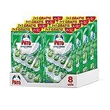 Pato Active Clean 1+1 - Colgador wc, frescor intenso, perfuma limpia y desinfecta el inodoro, aroma Pino. (Pack 8 unidades)