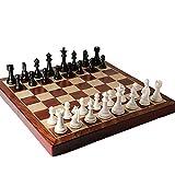 QQW Scacchi in legno di lusso, scacchiera oversize, pezzi degli scacchi, scacchiera 55x55 cm e pezzi degli scacchi 11 cm/C