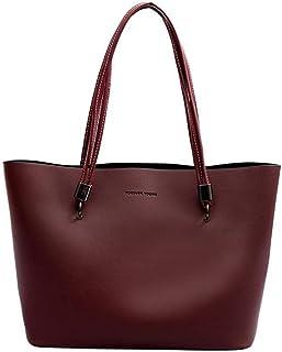 Trendy Lady Large-capacity Handbag Fashion Shoulder Bag Versatile Mobile Bag Retro Tote Bag Zgywmz (Color : Red, Size : 41 * 25 * 12cm)