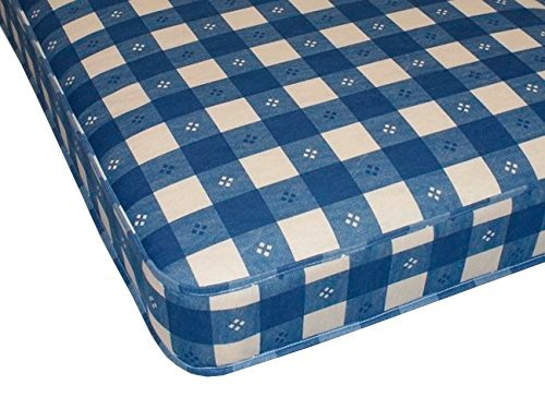 Starlight Beds Ltd BLUE CHECK 3ft Single Mattress (3ft Single Mattress 90cm x 190cm)