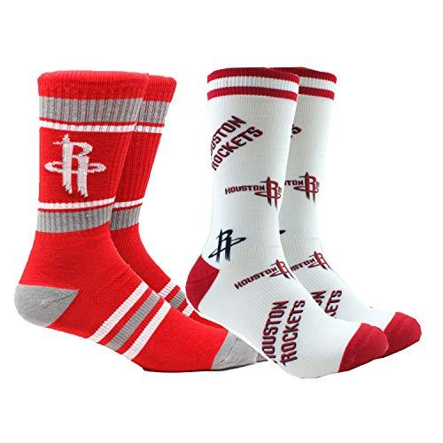 PKWY Rockets Unisex 2-Pack Crew Socks (Large (Men