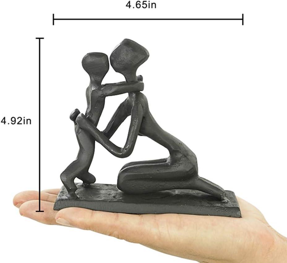 Regalo per Compleanno Natale Statua Decorativa per Casa Scultura Moderno Design Argento Soggiorno Aoneky Statuetta di Famiglia 3 Statuetta di Coppia in Resina Argento 28 cm