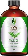 SVA Organics Thuja Oil (118 ml) 4 OzGURANTEED 100% Pure & Natural, Hexane Free, Authentic & Premium Therapeutic Grade Oil for Aromatherapy, Hair Care, Skin Care, Glowing Skin by SVA Organics