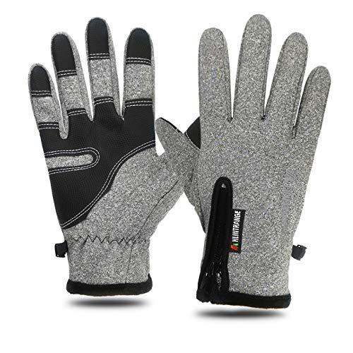XIEPEI Handschuhe Wasserdichte Handschuhe Winter Männer Und Frauen Winddicht Warm Reiten Reißverschluss An Allen Fingern
