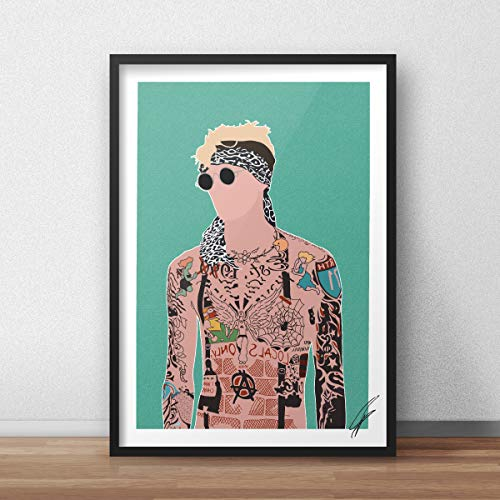 Von Machine Gun Kelly inspirierte Illustration.