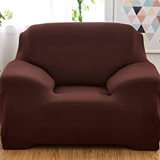 Home Decor,Sofa Cover for 1 Seater -Coffee