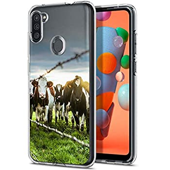 Newly 2020 Fashion Anti-Scratch Soft Durable TPU Ultra-Clear Silicone UV Printing Protective Milky Cow Phone Case for Samsung Galaxy A11