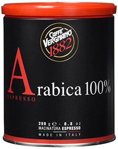 Caffè Vergnano 1882 Kaffee Dose 100% Arabica gemahlen Espresso - 2 Packungen mit 250 g