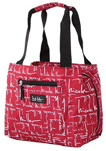 Nicole Miller of New York Insulated Lunch Cooler- Signature Red 11' Lunch Tote