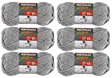 Bernat 161128-28046 Softee Chunky Yarn - Grey Heather