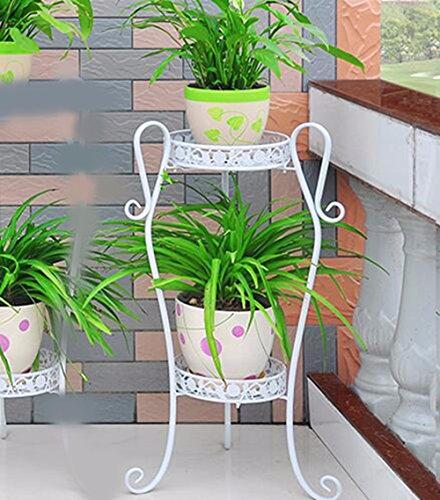 JRFBA Le Fer Flower Pot De Fleur Européenne Plusieurs Étages Plateau Étage Balcon Le Style De Jardin Quelques Green,C