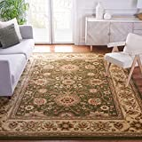 Safavieh Lyndhurst Collection LNH212C Traditional Oriental Non-Shedding Stain Resistant Living Room Bedroom Area Rug, 9' x 12', Sage / Ivory