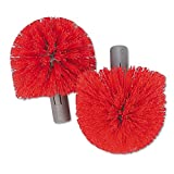 Unger BBRHR Replacement Heads for Ergo Toilet-Bowl-Brush System, 2/Pack