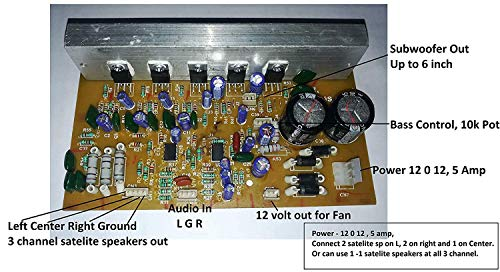 Soumik Electricals S_DIYKITS 150W Stereo 5.1/3.1 Home Theater Audio Amplifier Board Kit