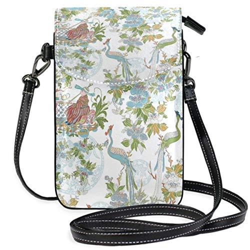 XCNGG Monedero pequeño para teléfono celular Birds Pattern Cell Phone Purse Wallet for Women Girl Small Crossbody Purse Bags