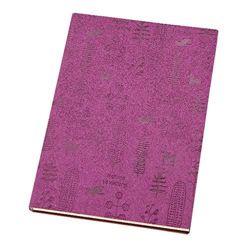 Büro-Tagebuch, 80 Seiten, Notizblock, Leder, groß, Vintage, Arbeit, verdickt, Notizbücher zum Schreiben (Farbe: B, Größe: 14,5 x 20,7 cm)