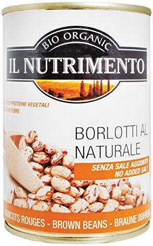 IL NUTRIMENTO Bohnen natur (Borlotti) - ohne Salz, 12er Pack (12 x 400 g)