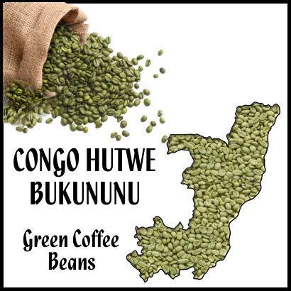 Congo Hutwe Bukununu, Green Beans 1lb, 16oz bag, coffee