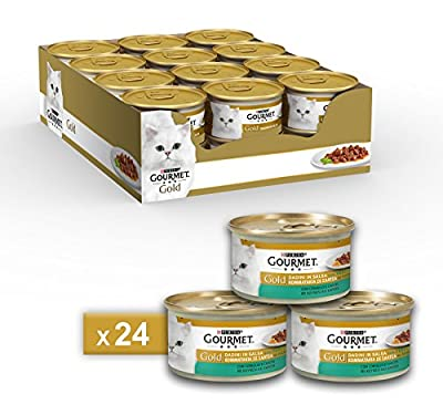 Gourmet Gold Food for the Cat Dice in Salsa with Rabbit and Carrots, 85g–Pack of 24 by Nestle Purina