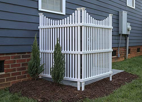 Zippity Outdoor Products ZP19036 Huntersville Privacy Screen, White