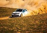 wandmotiv24 Fototapete Rallye Auto S 200 x 140cm - 4 Teile Fototapeten, Wandbild, Motivtapeten, Vlies-Tapeten Rennwagen, Sport, Extreme M0558