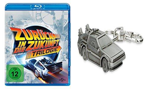 Zurück in die Zukunft - Teil 1 2 3 / Trilogy Blu-Ray Box + Back To The Future DeLorean Schlüsselanhänger GESCHENK SET LIMITED E