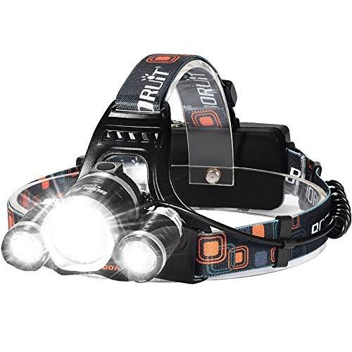 LED Headlamp, 6000 Lumens Max 4 Modes Waterproof...